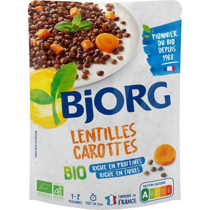 BJORG Lentilles carottes bio - 250 g