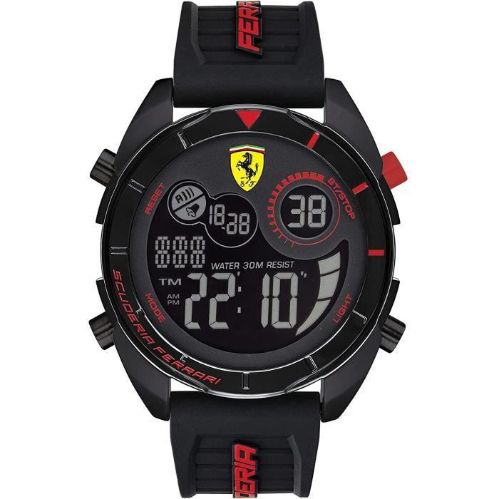 Ferrari-Montre Digital pour Hommes à movement Quartz en Silicone - 0830743