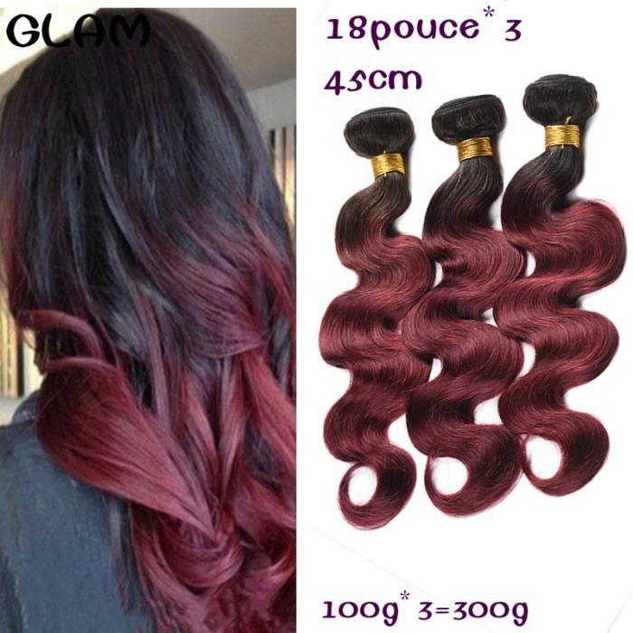 3 tissage bresilien avec lace closure virgin hair 100g-p 18pouce body wave 1b-99j