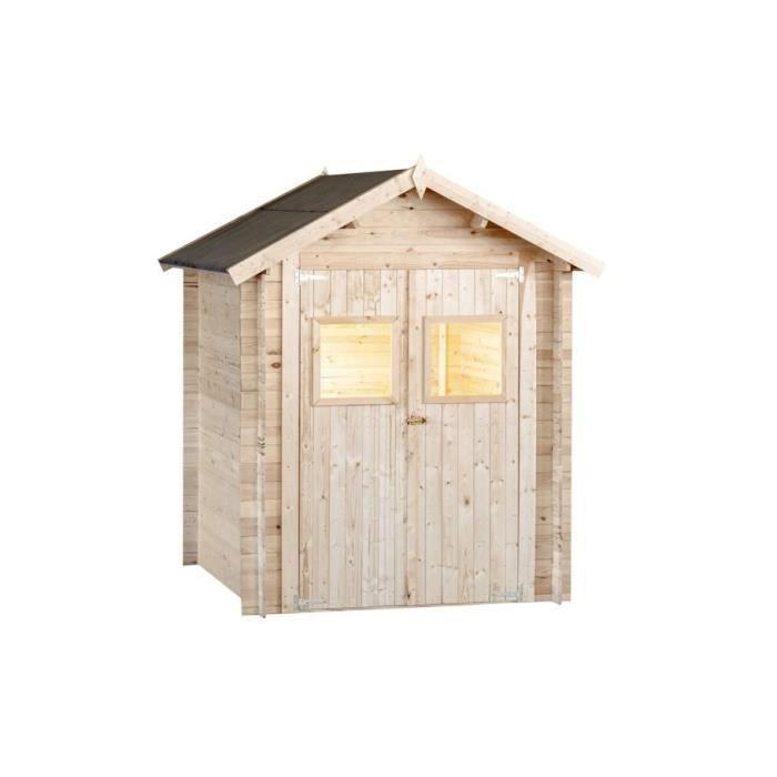 Abri de jardin en bois 19 mm - 180 x 180 cm - 3,24m²
