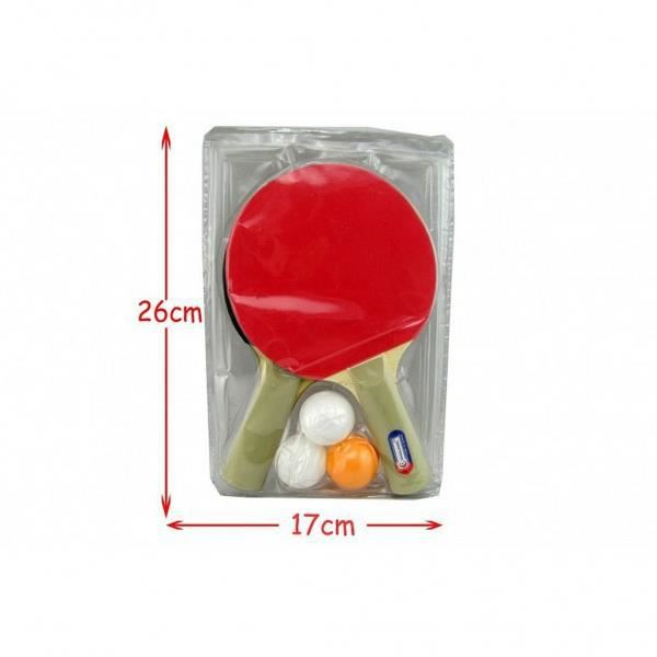 Lot de 2 raquette et 3 balle tennis de table - Sport Loisir Ping Pong - 960