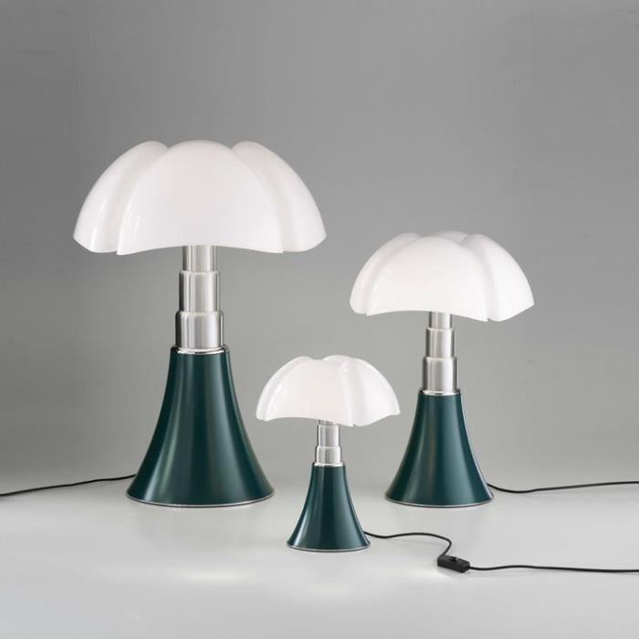 PIPISTRELLO-Lampe ampoules LED pied télescopique H66-86cm Vert Agave Martinelli Luce - designé par Gae Aulenti H ajustable : 66 à