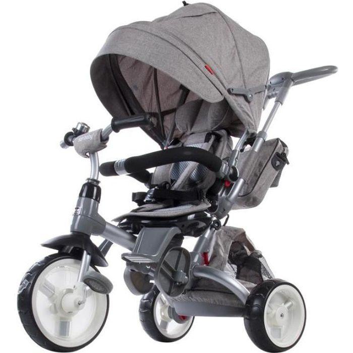 Tricycle évolutif bébé/enfant 1-3 ans - Little Tiger - Gris foncé Gris Foncé