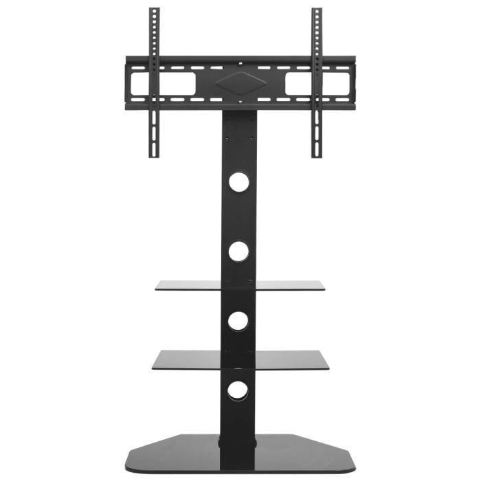 417836 - Design Furniture - Meuble TV Meuble HI-FI - Support pivotant de plancher pour TV 32--70- avec 2 étagères
