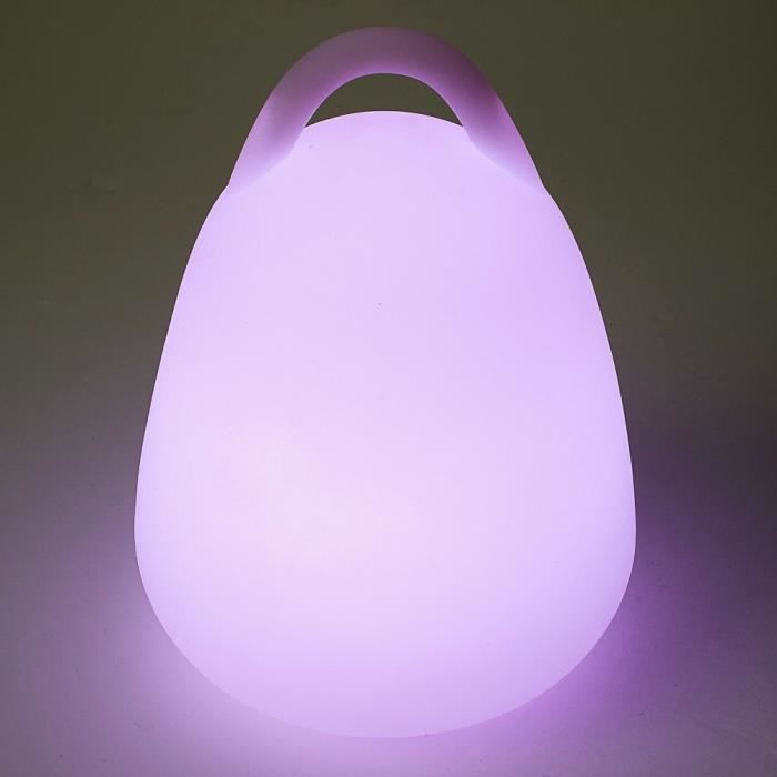 lampe egg led sans fil accrochable h24 cm achat vente. Black Bedroom Furniture Sets. Home Design Ideas
