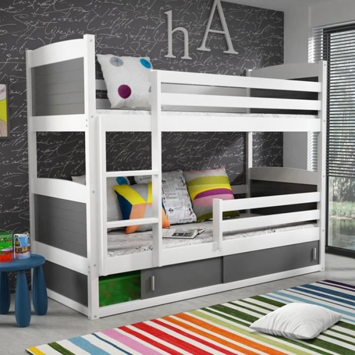 lit superpose avec barriere achat vente lit superpose avec barriere pas cher les soldes. Black Bedroom Furniture Sets. Home Design Ideas