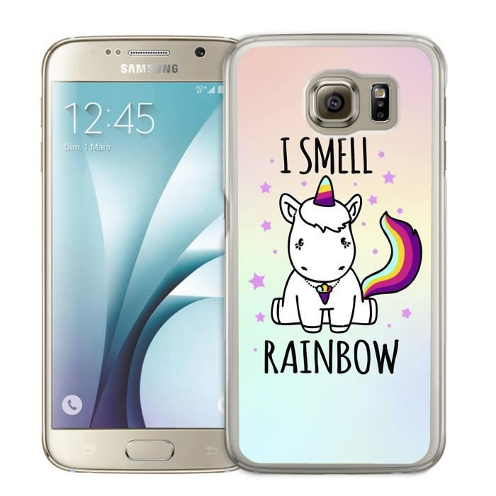 coque de telephone galaxy s6 edge licorne