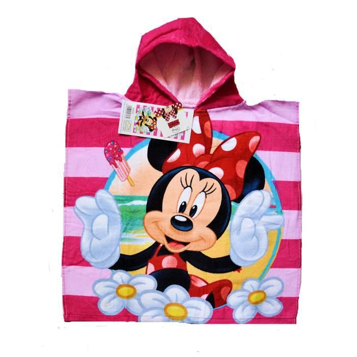 minnie poncho serviette sortie de bain fille achat vente serviette de plage cdiscount. Black Bedroom Furniture Sets. Home Design Ideas