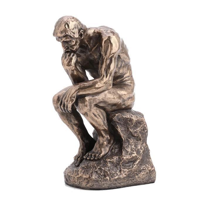 Le Penseur De Rodin Facon Bronze Sculpture Achat Vente Statue Statuette Bronze Resine Metal Cdiscount