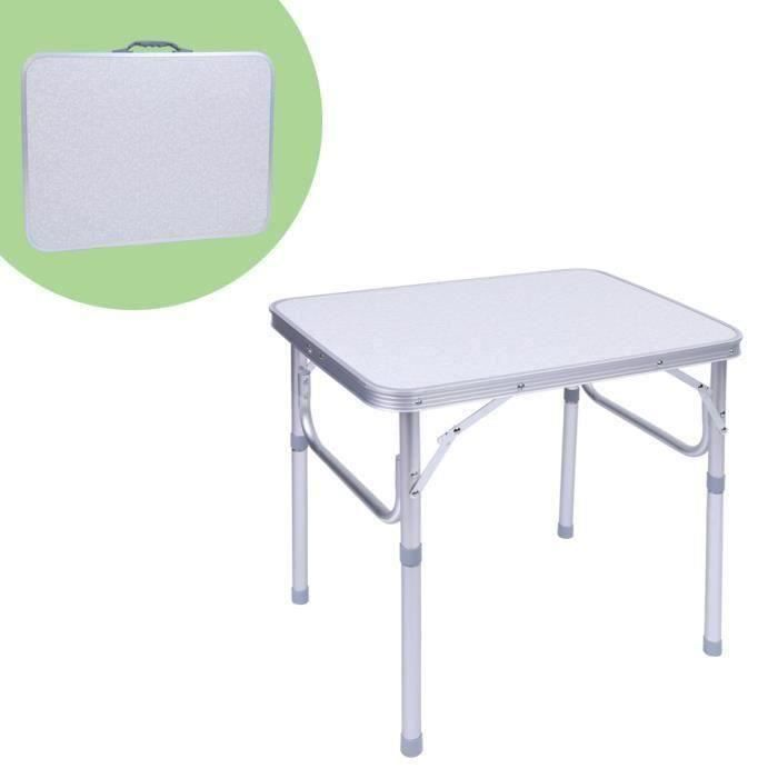 1X Table de Jardin Pliante Support Bureau Plateau en Alliage d\'Aluminium Pr  Camping Pique-Nique 60*45*58Cm - LRFXRN-C0156 T06028