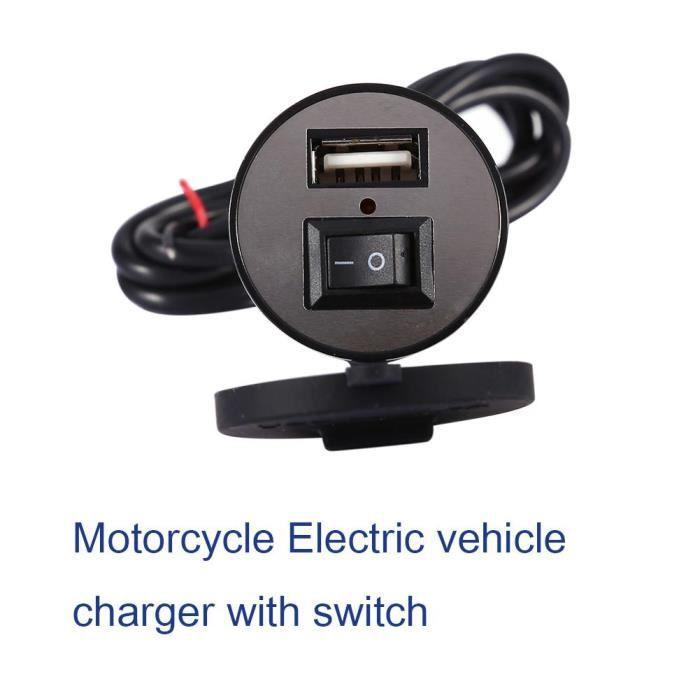 Motorcycle 2.1 A Double USB d/'alimentation Port Socket Chargeur pour téléphone portable GPS
