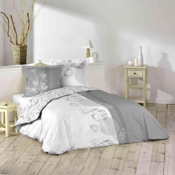parure de lit 100 coton 220x240 bubbles achat vente parure de couette cdiscount. Black Bedroom Furniture Sets. Home Design Ideas