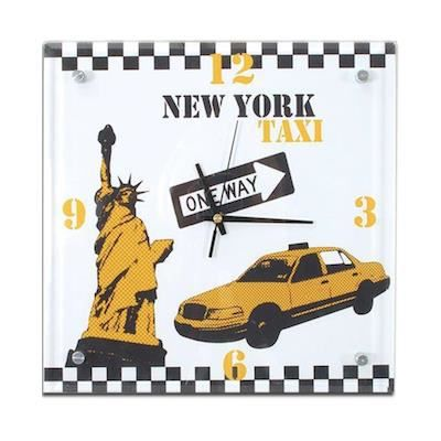 Horloge new york city achat vente horloge cdiscount for Horloge murale new york