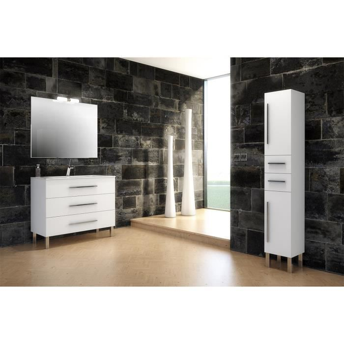 madrid meuble de salle de bain blanc 100 cm achat. Black Bedroom Furniture Sets. Home Design Ideas