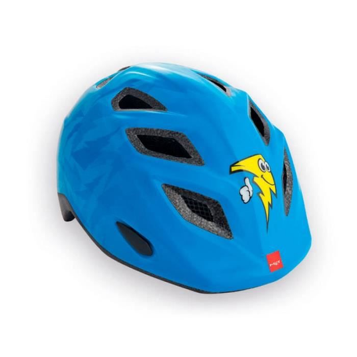 TIRELIRE Childrens cycle helmet MET Genio Blue Yellow 52-57