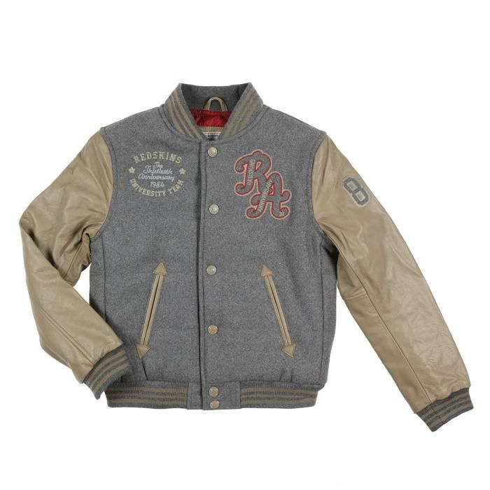 redskins teddy blouson willey enfant gar on marron achat vente blouson de sport cdiscount. Black Bedroom Furniture Sets. Home Design Ideas