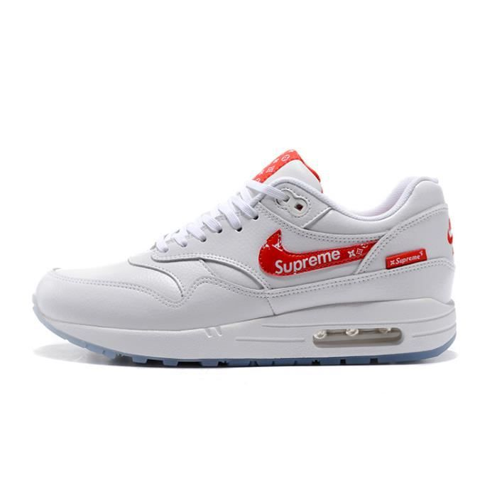 Baskets Supreme x Nike Air Max 1 Premium Chaussures femme