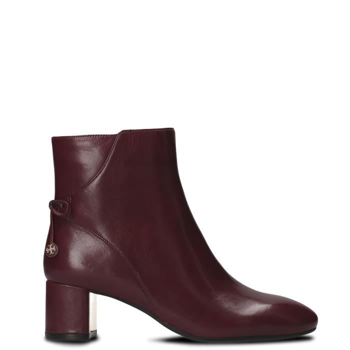 TORY BURCH FEMME 40289500 BORDEAUX CUIR BOTTINES