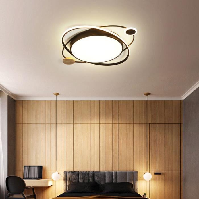 LED Plafonnier Luminaire Ronde Noir Lampe de Plafond Anneau Design  Décoration Salon Chambre à Coucher Salle à Manger Bureau