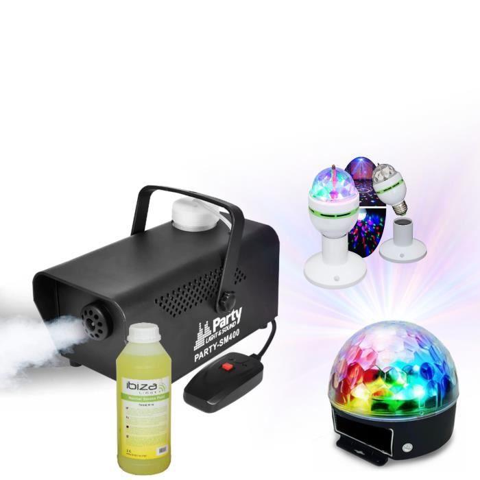 MACHINE À FUMÉE MACHINE A FUMEE 400W + jeux de lumière + produit f