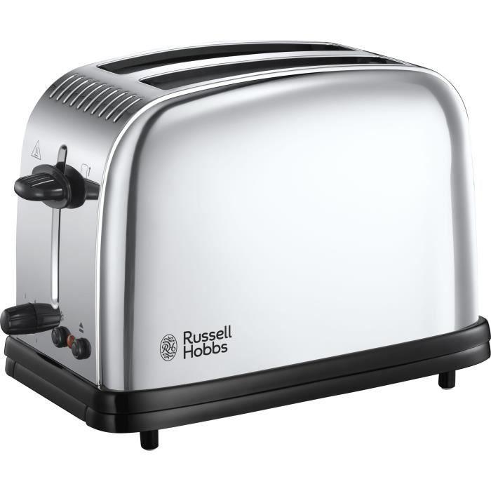 Dualit 4 Fente Lite Grille-pain Brillant Chrome et noir avec grande levée Fonction
