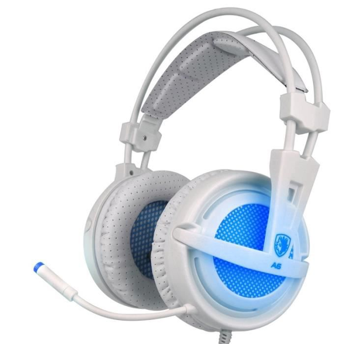 CASQUE AVEC MICROPHONE (#71) USB Gaming Headset 7.1 Channel Wired Headpho