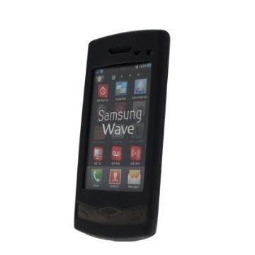 Housse silicone noire samsung s8500 wave achat housse for Housse samsung wave