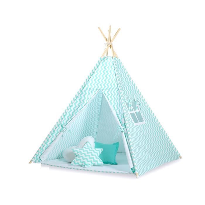 tipi teepee pour enfant avec textile zigzag me achat vente tente tunnel d 39 activit. Black Bedroom Furniture Sets. Home Design Ideas