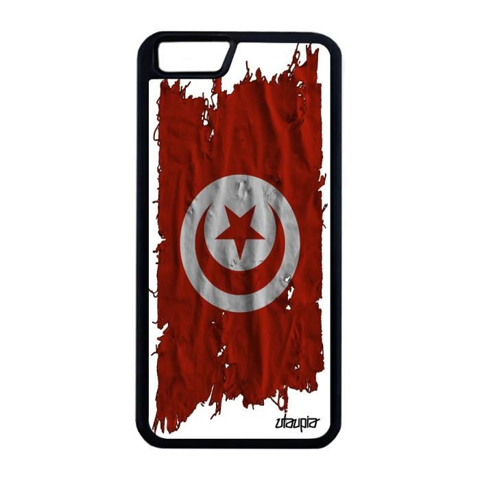 Coque silicone iPhone 6 6S Plus drapeau tunisie tu
