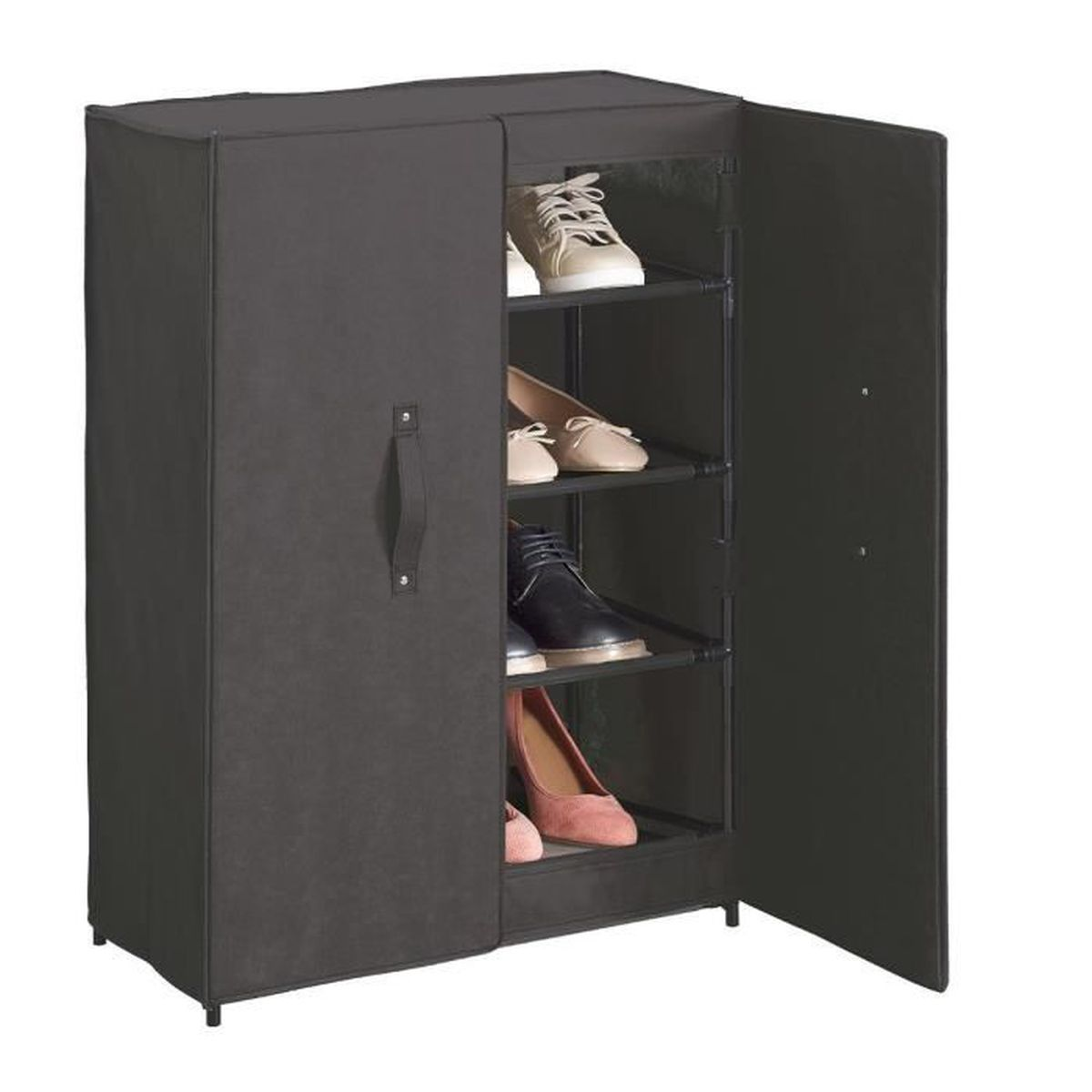 armoire a chaussures 2 portes achat vente pas cher. Black Bedroom Furniture Sets. Home Design Ideas