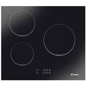 CANDY CTI300 - Table de cuisson induction - 3 zones - 5300W - L59 x P 52cm - Rev?tement verre - Noir