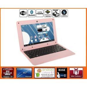 LIVRE INTERACTIF ENFANT Netbook éducatif Rose Android HDMI écran 10.1 pouc