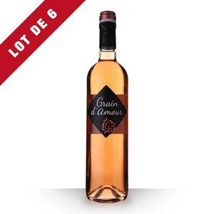 VIN ROSÉ 6X Grain d'Amour Rosé 75cl Vin de France - Vin Ros