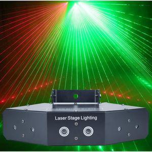 ECLAIRAGE LASER  6 Lentille DMX Laser Scanner Lumière Maison Fête