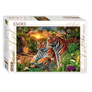 PUZZLE Puzzle 1500 pièces Combien de Tigres ?