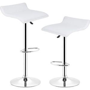 TABOURET DE BAR 2 x Tabourets blanc Hauteur réglable ,Chaise de Ba