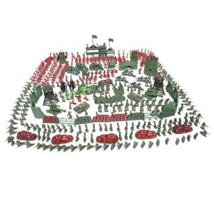 FIGURINE - PERSONNAGE 500Pcs Militaire Petit Soldat Figurine Tank Sable