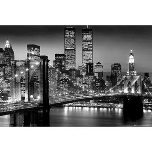 AFFICHE - POSTER Poster New York Lights World Trade Center/ Pont de