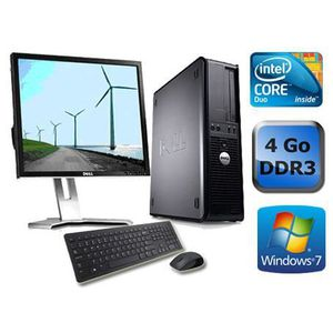 UNITÉ CENTRALE + ÉCRAN DELL OPTIPLEX 780 - 4Go - Windows 7 + Ecran 17""