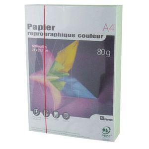 PAPIER IMPRIMANTE Ramette papier couleur A4 First 500 f. - Vert vif