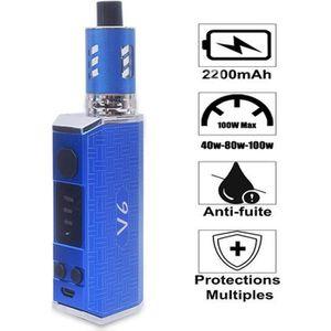 CIGARETTE ÉLECTRONIQUE GOBRO V6 Cigarette électronique kit complet 100W,