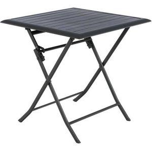 TABLE DE JARDIN  Table de jardin carrée Azua 2 places Graphite