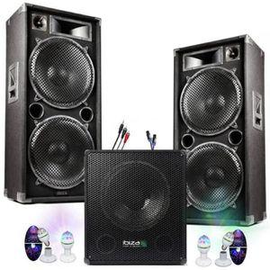 PACK SONO PACK SONO DJ 4300W CUBE 1512 avec CAISSON + ENCENT
