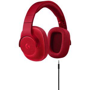 CASQUE AVEC MICROPHONE LOGITECH Micro Casque Gamer G433 Rouge - Pour PC,