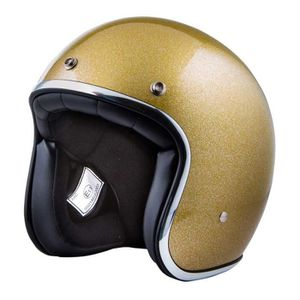CASQUE MOTO SCOOTER CASQUE STORMER JET PEARL PAILLETE OR