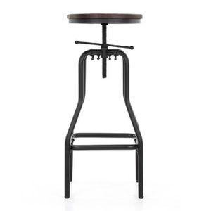 CHAISE iKayaa Chaise de bar Style industriel Haute ajusta