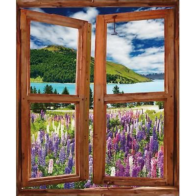 Sticker fenêtre trompe l/'oeil Prairie réf 746