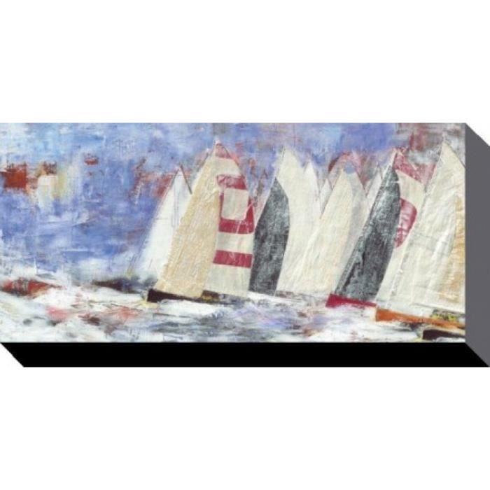 bateaux voiles poster reproduction sur toile tendue sur. Black Bedroom Furniture Sets. Home Design Ideas