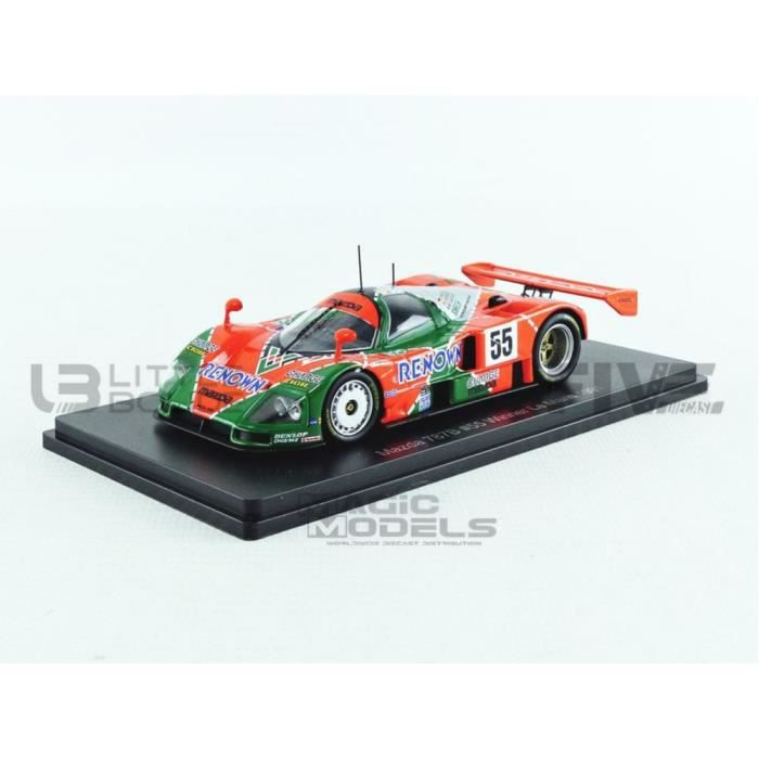 Voiture Miniature de Collection - PROMOCAR 1/43 - MAZDA 787B - Winner Le Mans 1991 - Red Fluo / Green Fluo - SPA2