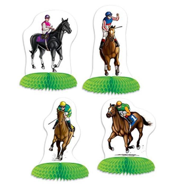 Coffret Cadeau Oenologie A2MSL 53427 Mini centres de courses de chevaux, 12 pièces, 4-5, blanc et vert